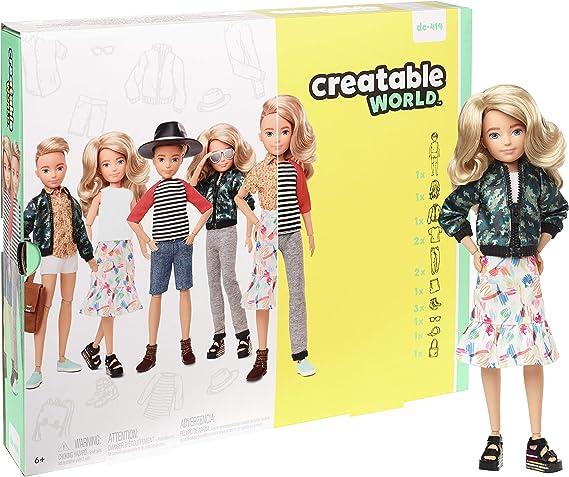"Mattel Creatable World Blonde White Articulated Nude 10"" Doll OOAK Artist Unisex"
