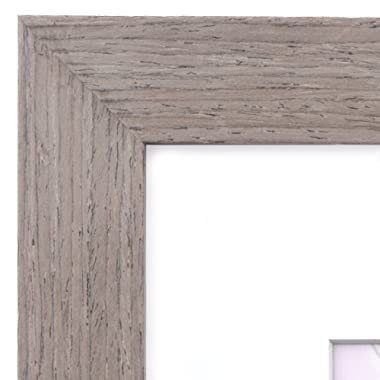 18x24 Picture Frame Walnut Wood - Matted for 12x18 Poster, Frames by EcoHome