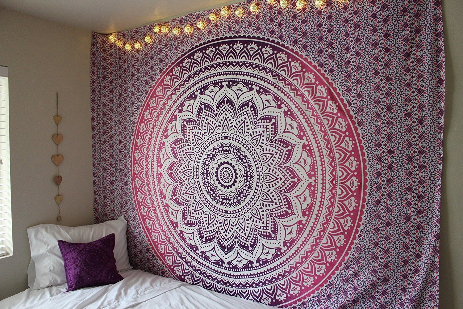 ''New launched'' Popular Handicrafts tapestry wall hangings Indian Mandala Wall Art, Hippie Wall Hanging, Bohemian Bedspread Purple
