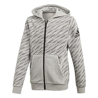 adidas Performance Jungen Kapuzenjacke Essentials Logo Full Zip Hoodie