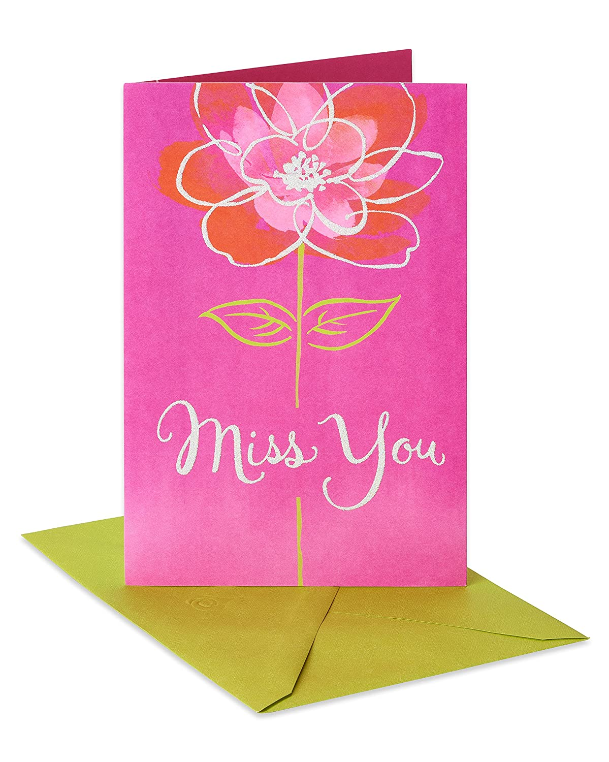 Amazon American Greetings Floral Miss You Thinking Of You Card