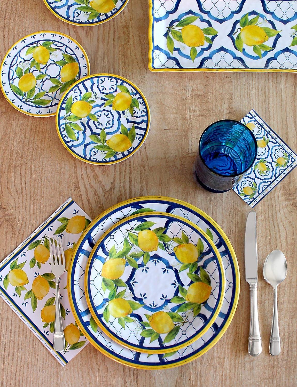 Le Cadeaux Palermo Melamine 13.75 Salad Bowl and Salad Servers Set