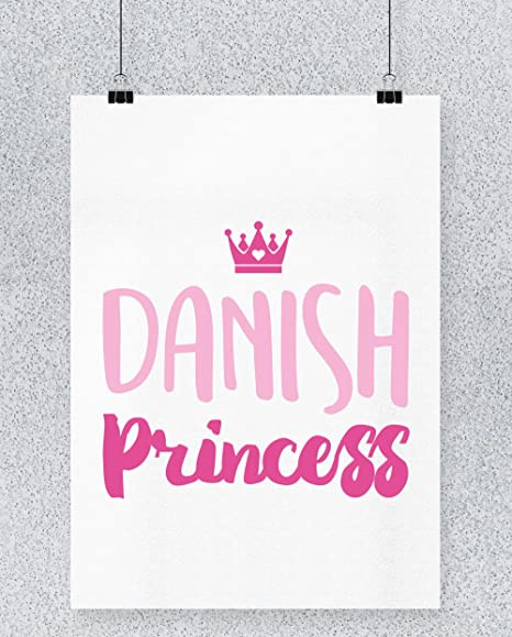 Hippowarehouse Danish Princess Cartel Impreso Pared Arte ...