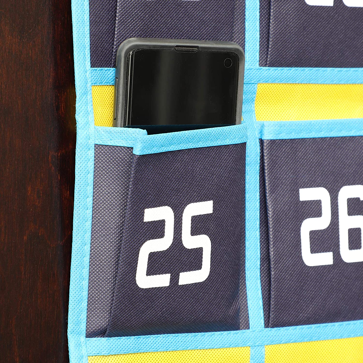 """Juvale Numbered Classroom Pocket Chart for Cell Phone and Calculator 37/"""" x 26/"""""""