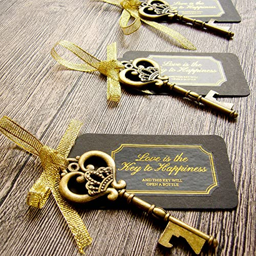52 heavy duty metal large skeleton key bottle opener wedding favor with tag chalkboard