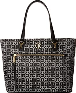 7aa1620caa40b Amazon.com  Tommy Hilfiger Bag for Women Canvas Item Tote  Clothing