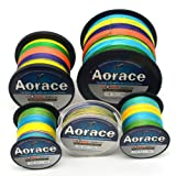 Aorace Braided Line Multicolor Color Braided Fishing Line 4 Strands 100M-1000M Braid Fishing Line 8Lb-100LB Super Strong Braid Line PE Line