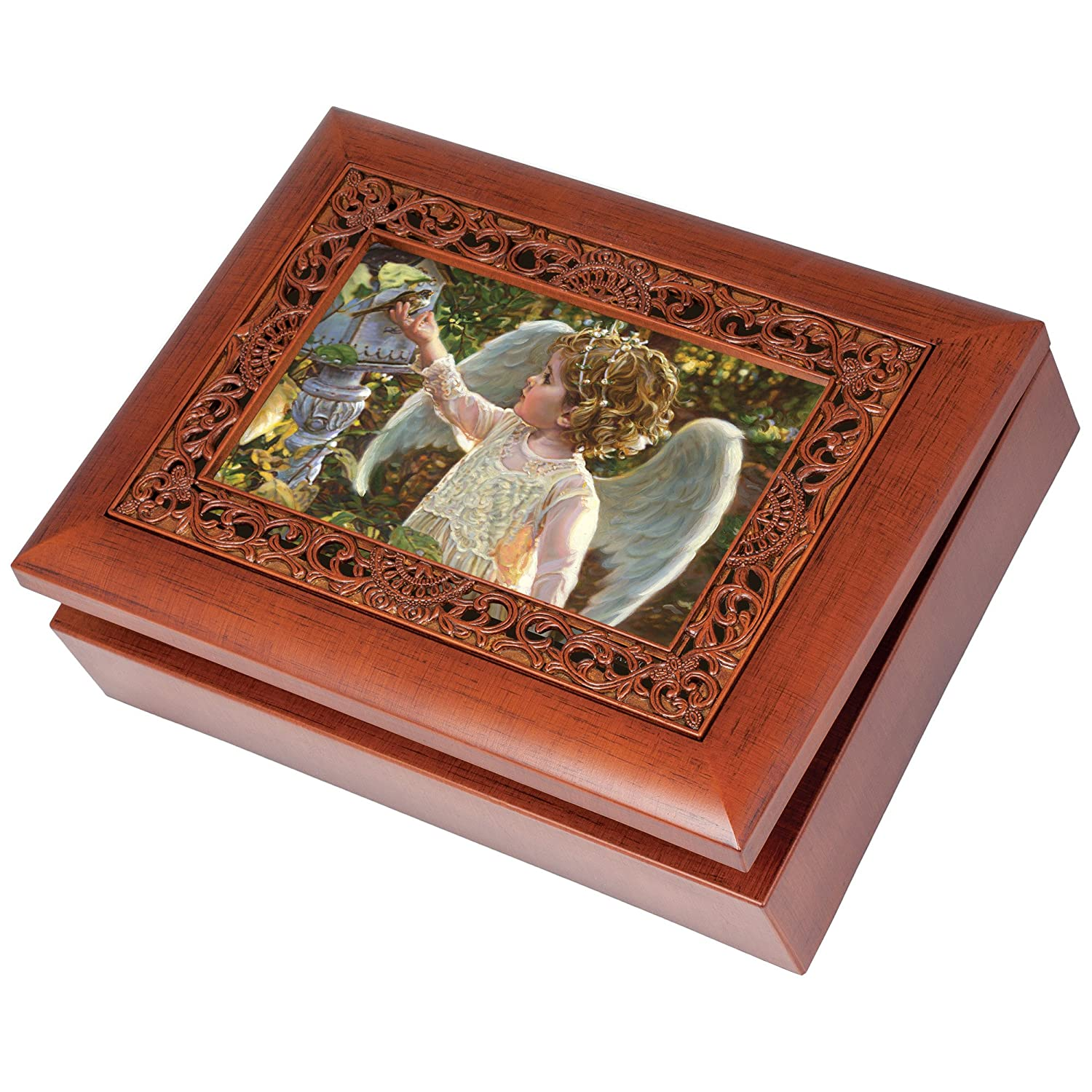 無料配達 Guardian B0117R4FSW Angel in the Garden Wood Wood Finish Ornate Garden Jewellery Music Box Plays Tune Ave Maria B0117R4FSW, HIP HOP DOPE:f95330d1 --- arcego.dominiotemporario.com