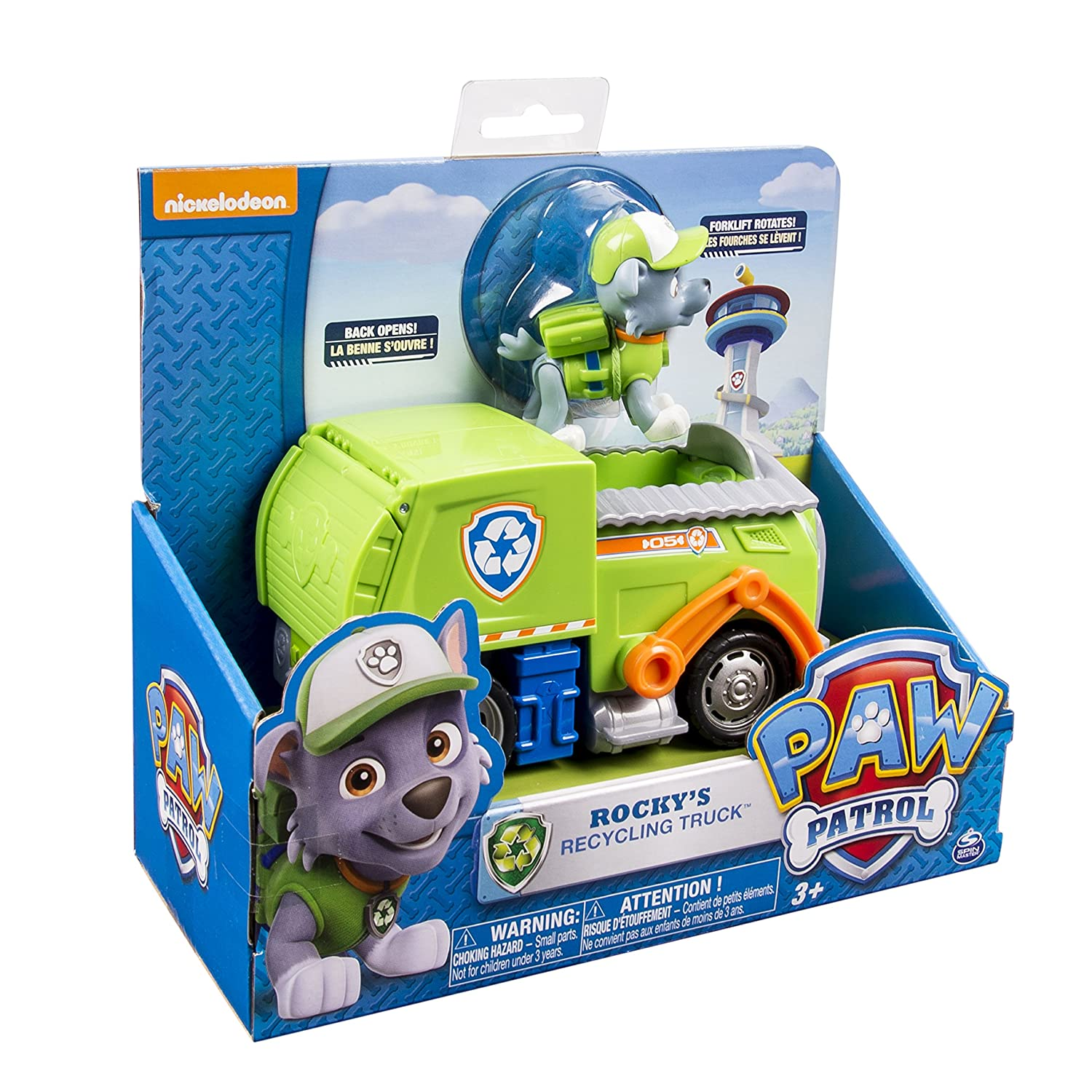 Amazon Com Paw Patrol Rocky S Recycling Truck Vehicle And Figure