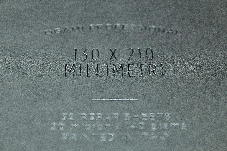 Quaderno ad Anelli di Carta Repap con Copertina Rigida Formato Regular 195 x 240 mm Notebook Professional Grey Colore Grigio Ogami Pagina a Righe