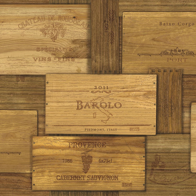 Design Wine Crates chesapeake man01711 randolph wine crates wallpaper brown amazon com