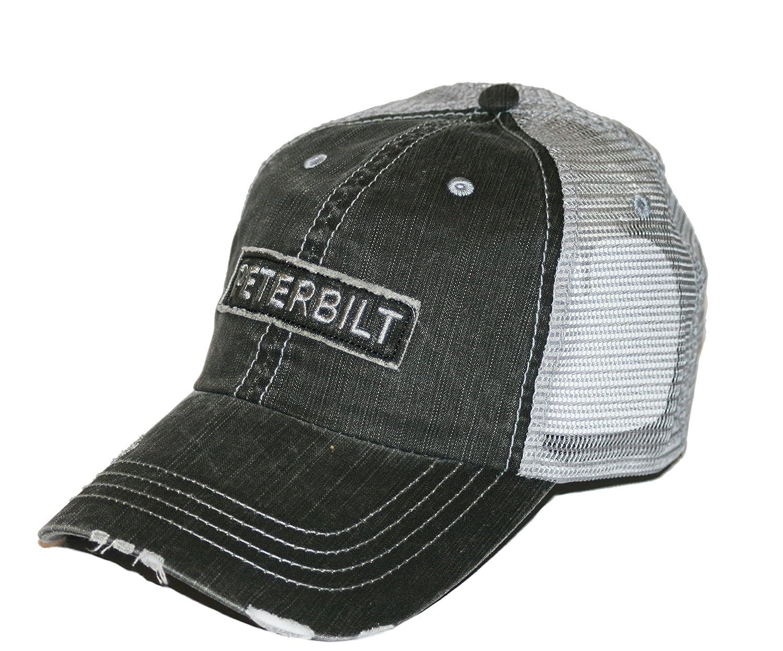 BD&A Peterbilt Motors Raw Edge Patch Mesh Trucker Cap