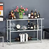 """Studio Home Portico 52"""" Bar In Chrome with Clear Glass 71005"""