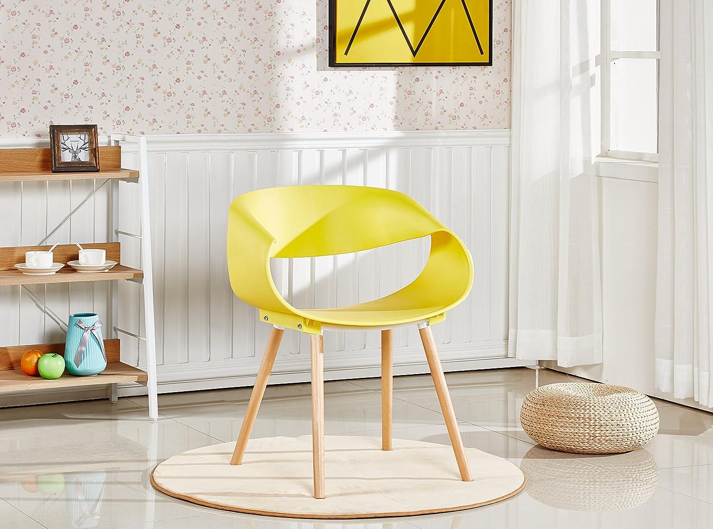 P&N Homewares Nest Stuhl Kunststoff Retro Retro Retro Modernen Esszimmerstühlen, weiß Schwarz Grau Gelb Braun, Plastik, Cappuccino, Two Chairs 4ea887