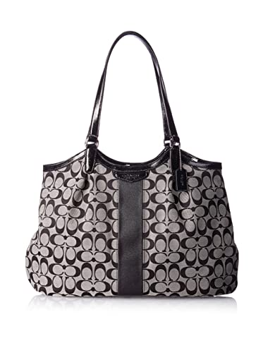 Amazon.com  Coach Devin Signature Stripe Women s Tote Handbag Bag ... 9976d85e418e9