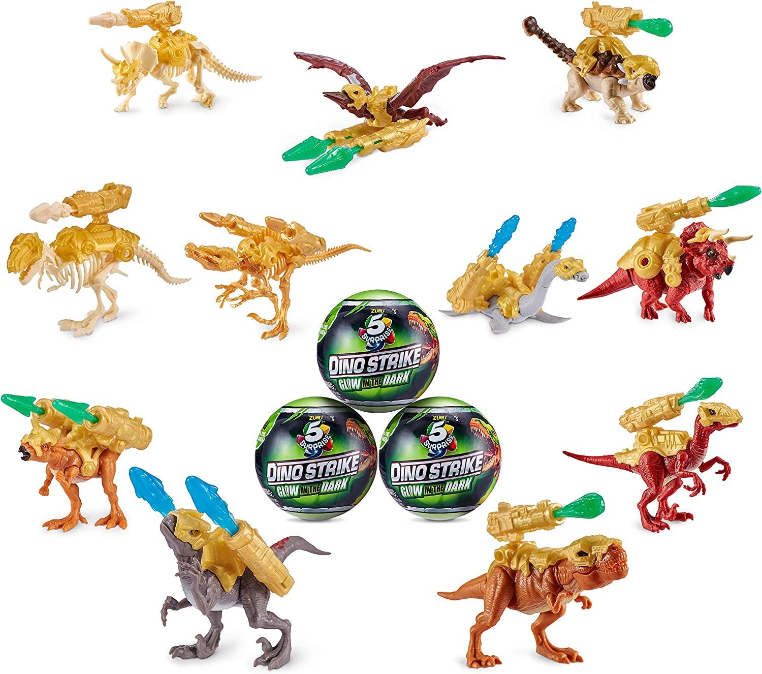 Surprise Mystery Battling Collectible Dinos Brand New Dino Strike 5 Surprise