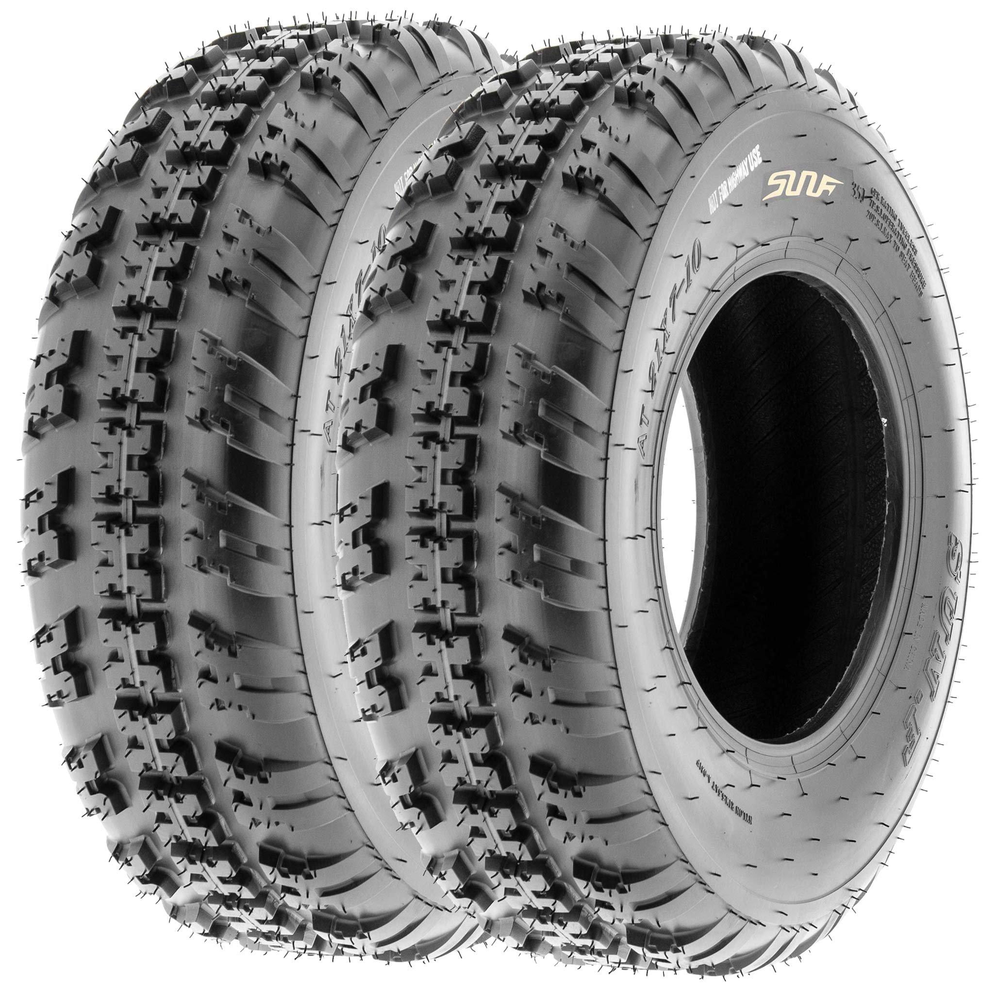 SunF 20x6-10 20x6x10 ATV UTV All Terrain Trail Replacement 6 PR Tubeless Tires A031, [Set of 2]