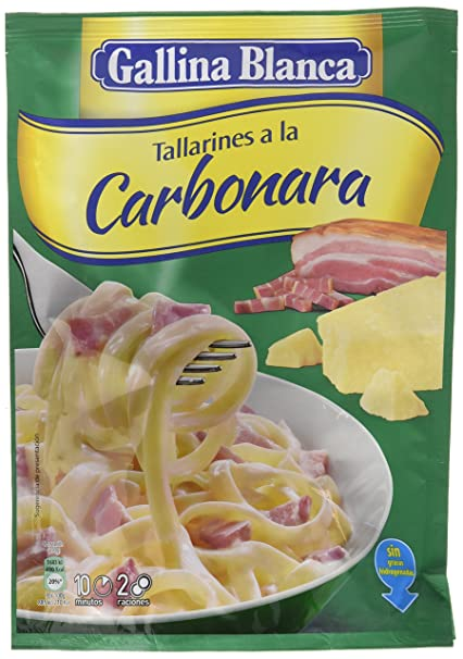 Gallina Blanca Tallarines a La Carbonara - 143 G
