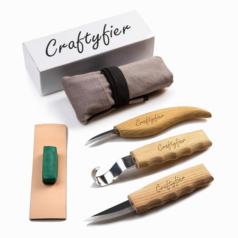 Amazon.com: Craftyfier Kit de herramientas de tallado de ...