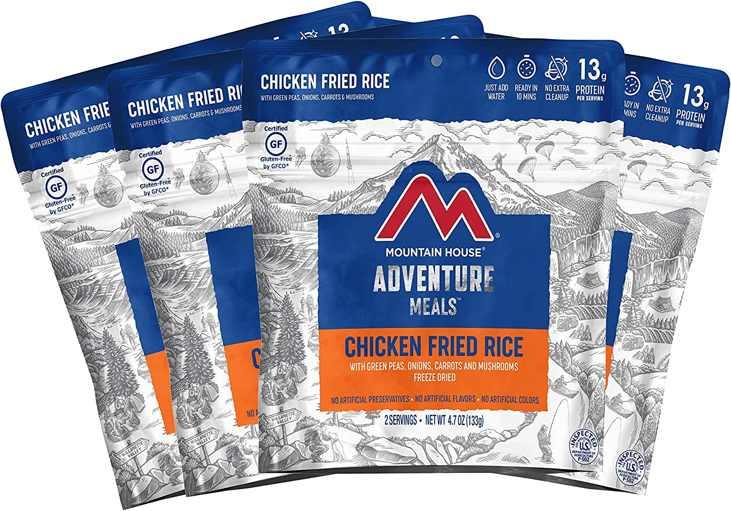 Mountain House Chicken Fried Rice | Freeze Dried Backpacking & Camping Food | Survival & Emergency Food | Gluten-Free
