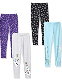 Spotted Zebra by Disney Frozen - Girls' Toddler & Kids 4-Pack Leggings
