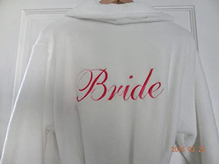 PERSONALISED DRESSING GOWN - BEAUTIFULLY EMBROIDERED SIZES 8-10, 12 ...