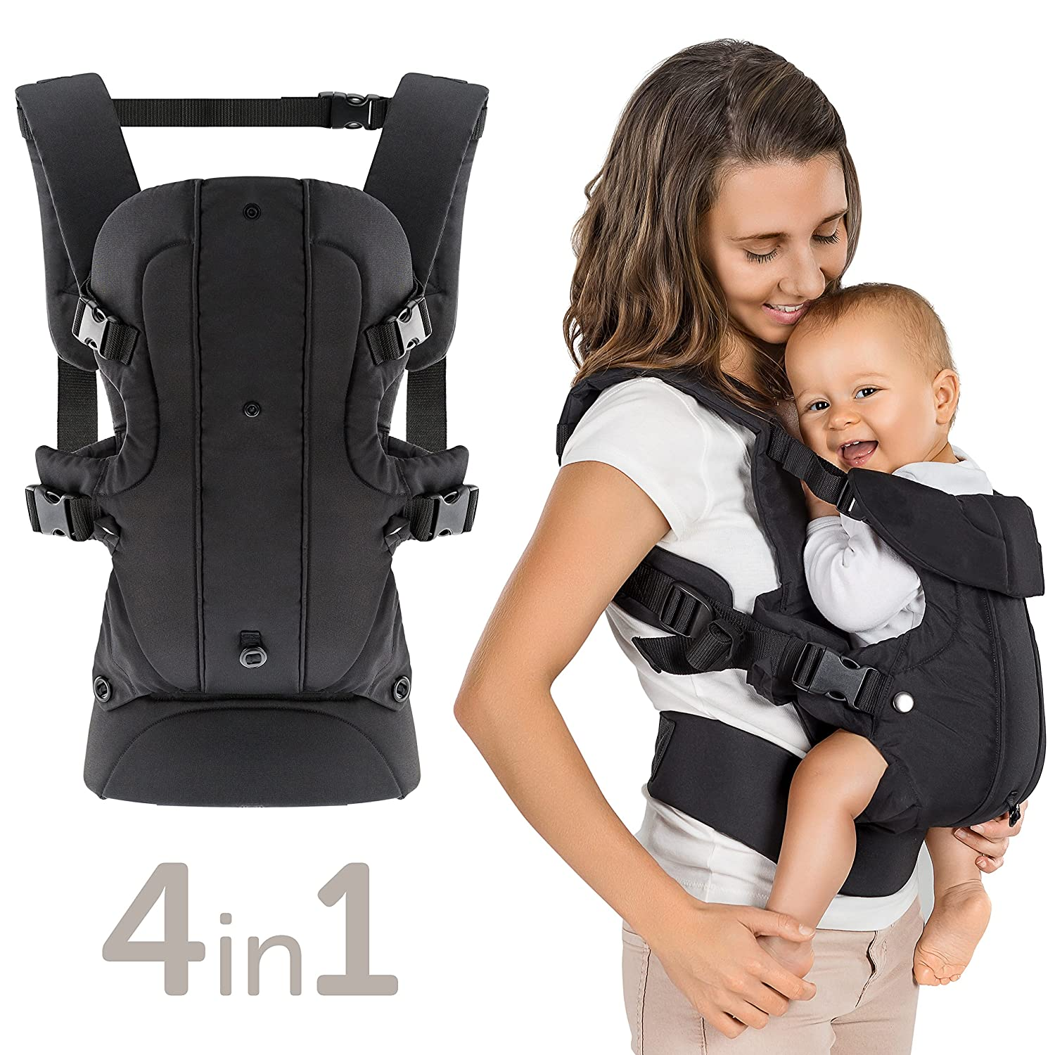 f3413db6f4a Fillikid 4-in-1 Convertible Baby Carrier - Adjustable   Ergonomic Front and Back  Child Carrier for Newborn