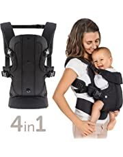 Fillikid 4-in-1 Convertible Baby Carrier - Adjustable & Ergonomic Front and Back Child Carrier for Newborn, Infant & Toddler (3.5-15kgs)