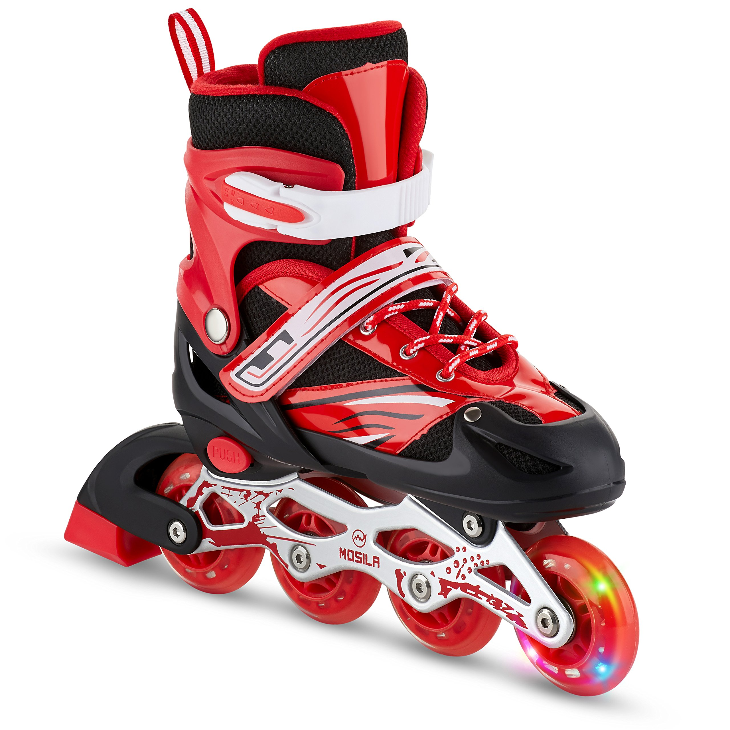 Kids Inline Skates-Top Performance Roller Skate for Girls and Boys-Easily Adjustable ,Fits US Kids Size 3-6,Expands As Your Child Grows-Light Up Front Wheel and Low Friction Wheels-by MOSILA