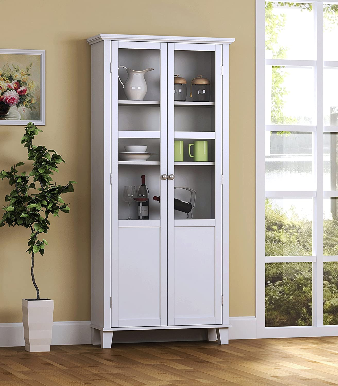 Favorite Amazon.com - Homestar 2 Door Storage Cabinet, White - China Cabinets KC23