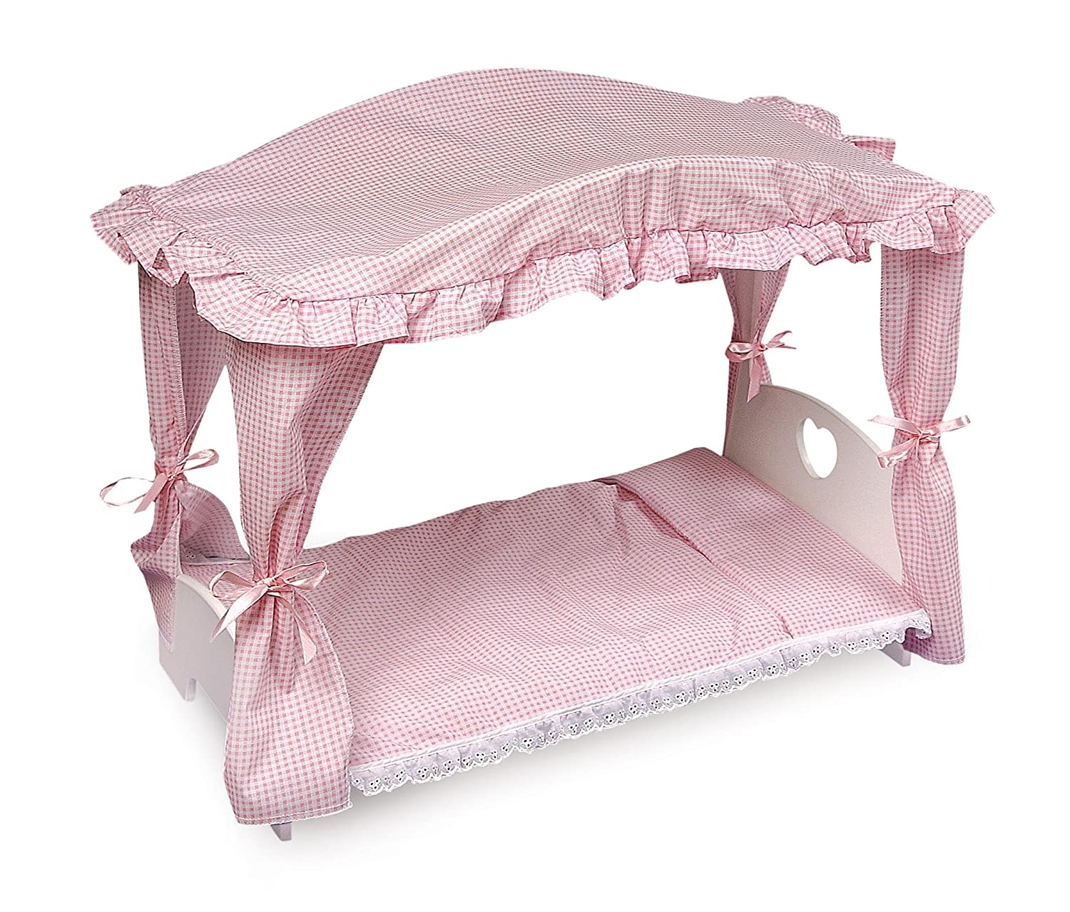 Exceptional Amazon.com: Badger Basket Canopy Doll Bed With Bedding (fits American Girl  Dolls): Toys U0026 Games