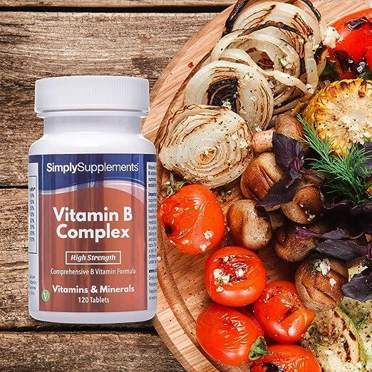 Vitamina B Complex - ¡Bote para 4 meses! - Apto para veganos - 120 ...