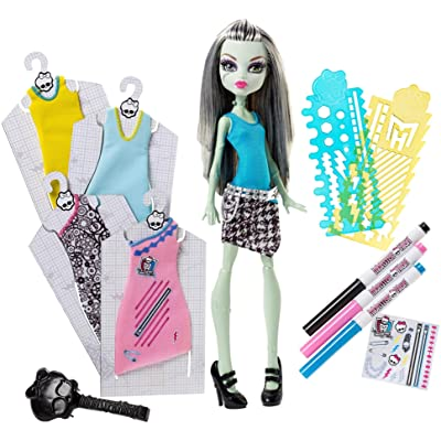 Monster High Designer Booo-tique Frankie Stein Doll & Fashions: Toys & Games