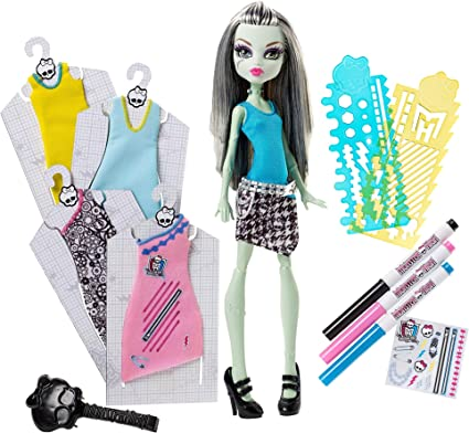 Amazon Com Monster High Designer Boo Tique Frankie Stein Doll Fashions Toys Games