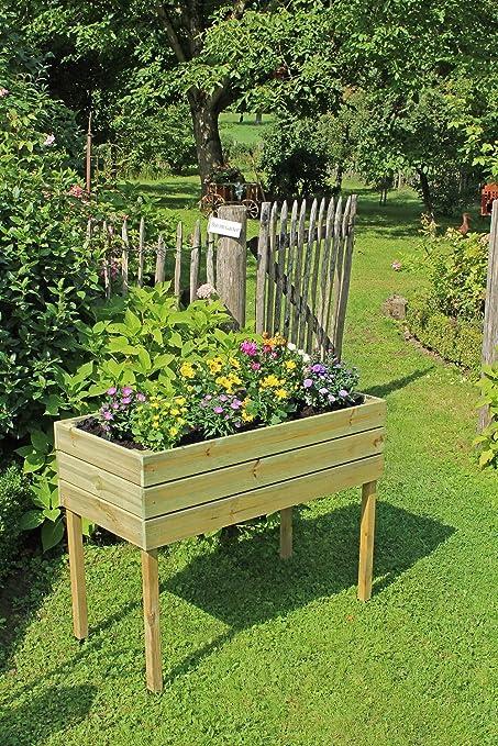 MYGARDENLUST Cama alta de madera para plantas, kit de construcción ...