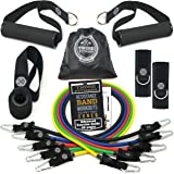 TRIBE Resistance Bands Set and Weights for Exercises I Exercise Bands for Men with Workout Bands, Handles, Door Anchor, Ankle