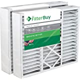 FilterBuy 16x25x5 Honeywell Pleated AC Furnace Air Filters. Pack of 2. AFB Silver MERV