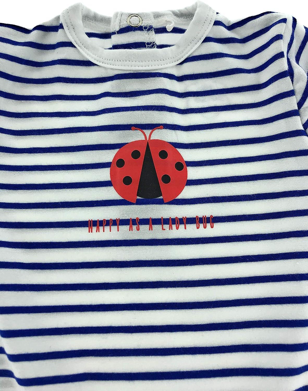 Baby Bio Baumwolle Langarm Strampler Pyjama Schlafanzug 62-68 Marienk/äfer Ladybug 1er
