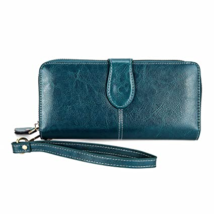 Portafoglio Donna Borsa telefono Lungo Lusso Donna Portamonete Porta carte di credito con zip organizzare