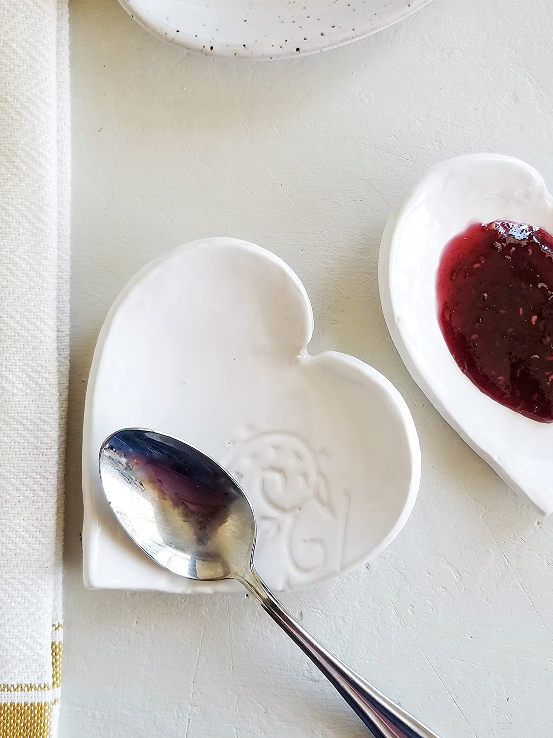 Heart Spoon Rest In Classic White
