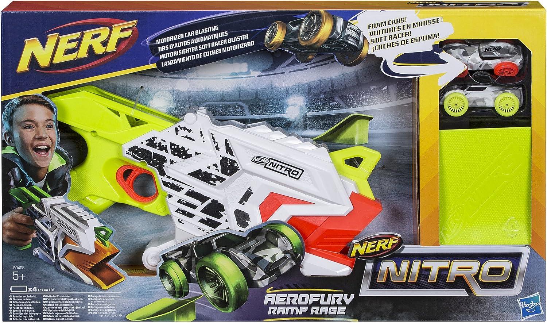 Nerf Nitro- Nitro AeroFury Ramp Rage Hypershot, Color Oro, Naranja, Blanco (Hasbro E0408EU4)