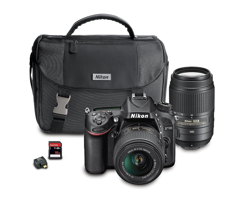 Amazon.com : Nikon D7100 DX-Format Digital SLR Camera Bundle with 18 ...