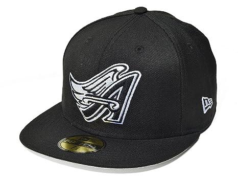 Amazon.com   New Era 59FIFTY Los Angeles Angels of Anaheim Black ... 89136b14e67