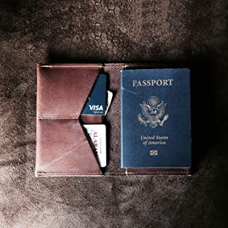 product image for The Pioneer Fine Leather Passport Wallet Passport Cover in Brown