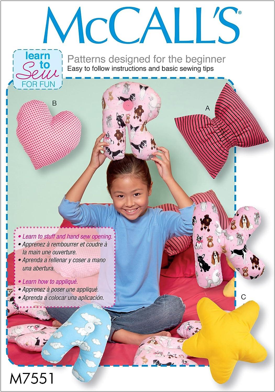 and Alphabet Pillow Bow McCalls Patterns Star Heart