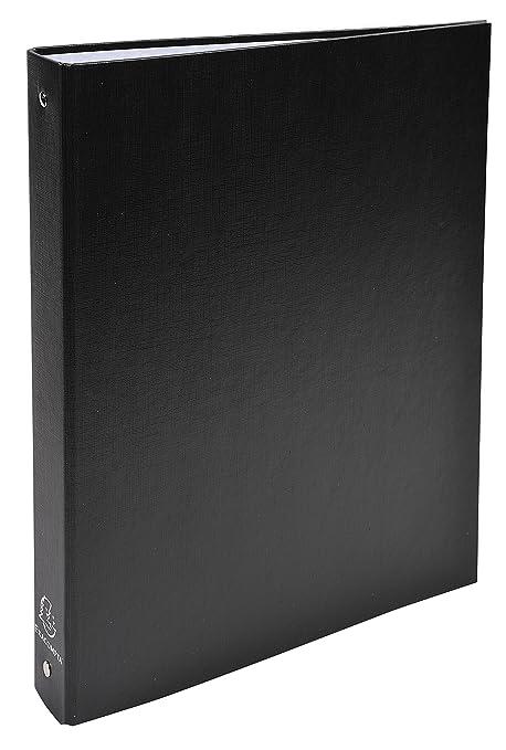 Exacompta 51371E - Carpeta forrada polipropileno 4 anillas, 30 mm, A4, negro,