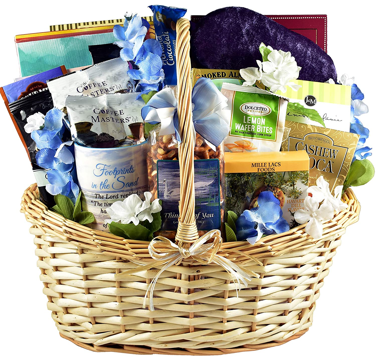 Gift Basket Village With Deepest Sympathy, Bereavement and Sympathy, 7 Piece Set Comfort Foods