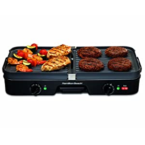 Hamilton Beach 38546 3-in-1 Electric Griddle and Grill