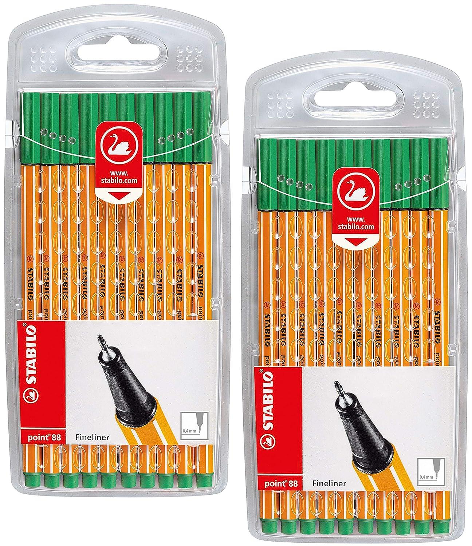 STABILO point 88-30er Pack Fineliner mit 30 verschiedenen Farben inklusive 5 Neonfarben