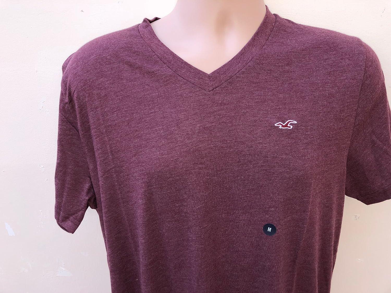 Hollister - Camiseta - para Hombre Rojo Granate Medium: Amazon.es: Ropa y accesorios